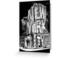 New York City Pencil by Tai's Tees Greeting Card