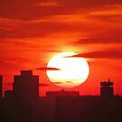 Winter Sunset over New York City  by Alberto  DeJesus
