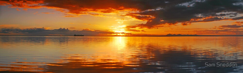 Corio Bay Sunset by Sam Sneddon