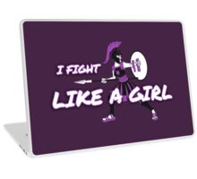 Athena: I Fight Like a Girl Laptop Skin