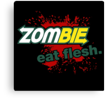 Zombie - Eat Flesh Canvas Print