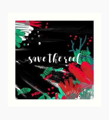 Save the reef Art Print
