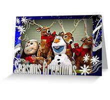 An Olaf and Reindeer Season's Greetings Greeting Card