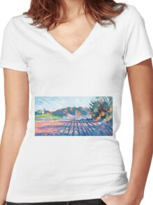 Little Compton II Women's Fitted V-Neck T-Shirt