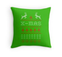 Merry Christmas / x-mas knit design ugly Throw Pillow