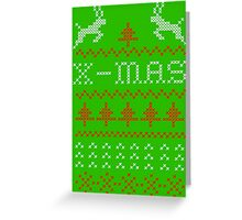 Merry Christmas / x-mas knit design ugly Greeting Card