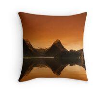 Mitre Peak, New Zealand Throw Pillow