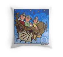 Family Holiday Throw Pillow