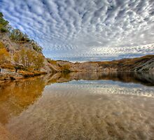 Blue Lake - St Bathans reflections by Mel Brackstone