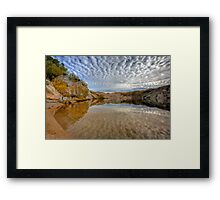 Blue Lake - St Bathans reflections Framed Print