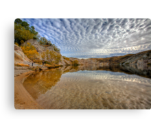 Blue Lake - St Bathans reflections Canvas Print