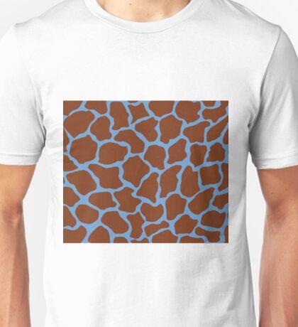 Blue-Gray or Livid in Giraffe Pattern Unisex T-Shirt