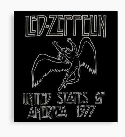 Led Zeppelin Icarus 1977 Canvas Print
