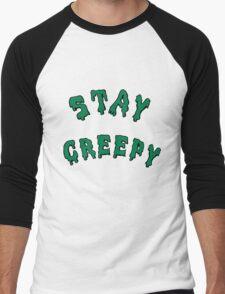 Stay Creepy (pink drip) Men's Baseball ¾ T-Shirt