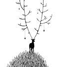 Lucky Deer by Aleksandra Kabakova