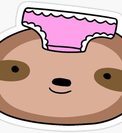 Panties Sloth Face Sticker