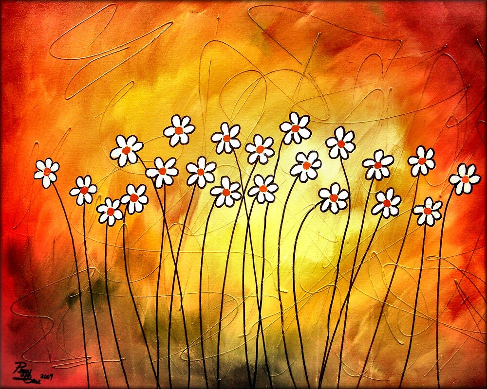 Field Of Daisies by Peggy Garr
