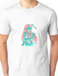 Beautiful girl robot android Unisex T-Shirt
