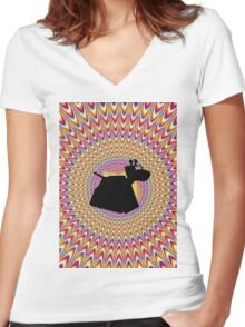 K9 Trip Women's Fitted V-Neck T-Shirt