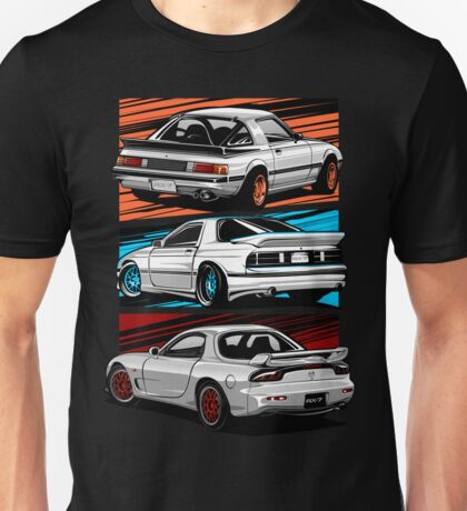 Dream Cars RX7 Generations Unisex T-Shirt