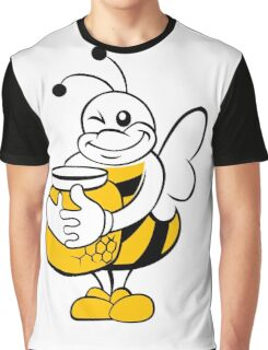 Bee with honey pot. Graphic T-Shirt