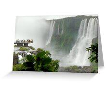 Iguazú Falls Platform Greeting Card