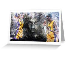 Kobe Bryant - BLACK MAMBA 24 Greeting Card