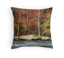 Autumn on the Cumberland River Throw Pillow