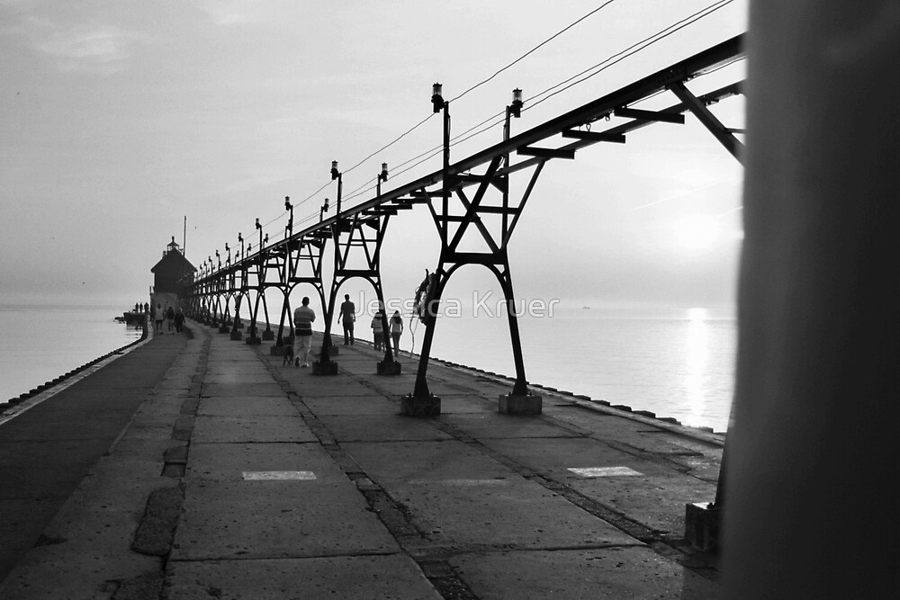 Grand Haven Pier by Jessica Kruer