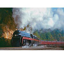 N&W #611 Climbs Christiansburg Mountain Grade - Shawsville, VA Photographic Print