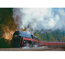 N&W #611 Climbs Christiansburg Mountain Grade - Shawsville, VA Photographic Print