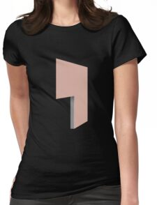 Glitch Homes Wallpaper heartred stucco left divide Womens Fitted T-Shirt