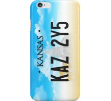 Supernatural Kansas Impala Plate iPhone Case/Skin