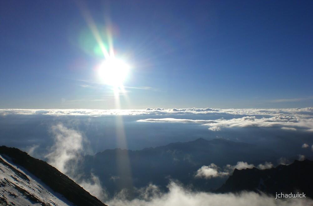 Sunrise over ridge by jchadwick