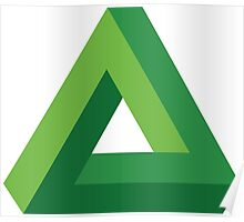 Impossible Triangle - Green Poster