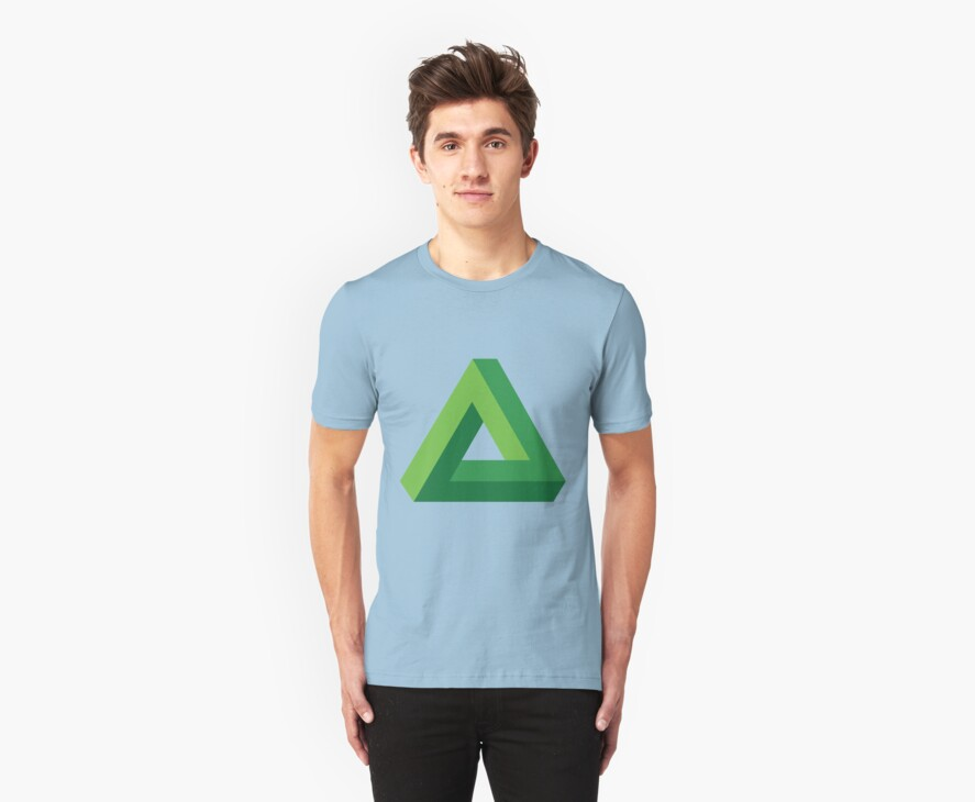 Penrose Impossible Triangle T-Shirt, in 18 Colors