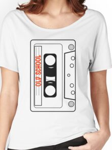 Retro Oldschool Cassette Tape Tees Women's Relaxed Fit T-Shirt