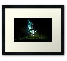 The legend of Zelda - Link sword Excalibur Framed Print