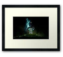 The legend of Zelda - Link sword Excalibur Framed Print