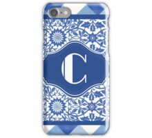 Letter C Monogram in Indigo Patterns iPhone Case/Skin