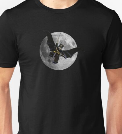 Lego Batman with Moon on Background Unisex T-Shirt