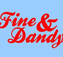 Fine & Dandy Light Blue Red Card by M  Bianchi