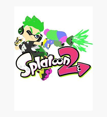 Splatoon 2 - Green Male Inkling Shirt Photographic Print