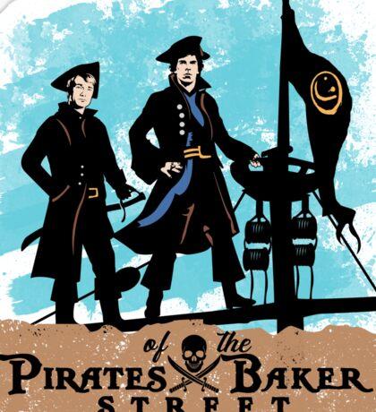 Pirates of the Baker Street. Sherlock and Watson. Sticker