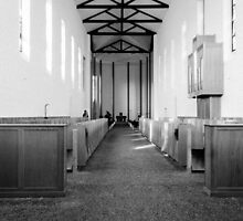 Abbey of Gethsemani - B&W by mcstory