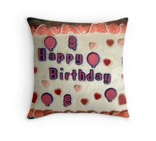 happy b/day to mee!! Throw Pillow