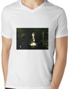Mark Twain and Nikola Tesla Mens V-Neck T-Shirt