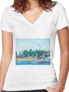 Portsmouth Women's Fitted V-Neck T-Shirt