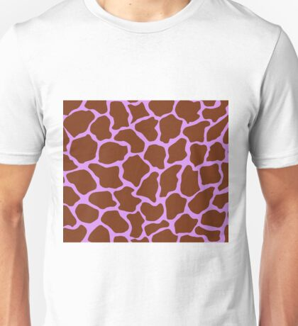Bright Lilac in Giraffe Pattern  Unisex T-Shirt
