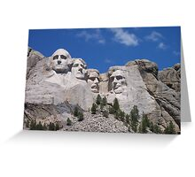 Mount Rushmore Greeting Card
